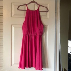 LUSH Pink flowy dress
